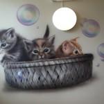 Katter på vägg